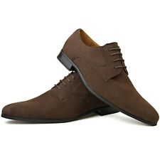 Mens Fashion New Brown Leather Shoes Formal Smart Dress UK Size 6 7 8 9 10 11