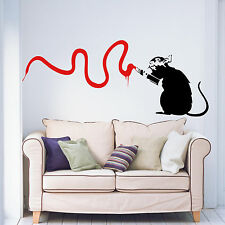 Banksy Rat Vandal Living Room Bedroom Hallway Kitchen Vinyl Wall Art Sticker