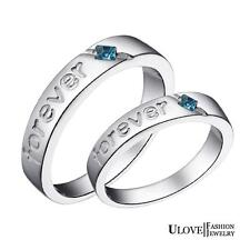 New High Class Mens/Ladies Forever PL/Plated C/Z Rings In Various Sizes