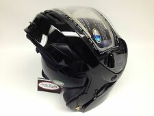 Gloss Black Gmax GM54S Modular Snowmobile Helmet W/ Electric Shield option snow