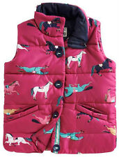 NEW Joules Kids Junior Marsha Puffy Vest - Pink Ponies