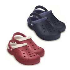 New CROCS Baya Lined Clogs Womens Mens Sandals Unisex Blue/Fuchsia Shoes Sizes