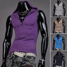 CHEAP NEW 7 Colors Men's Hooded Muscle Sleeveless Vest Tank Top Blouse Shirt HOT