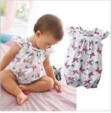 NEW Baby Girl Butterfly Print Cotton Bodysuit Romper Size 6-24 months 0.1.2