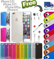 NUOVA Custodia In Silicone Cover Rigida Apple iPhone 5 / 5C / 5S / 6 + GRATIS CARICABATTERIE E ACCESSORI *