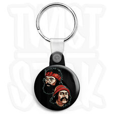 Cheech & Chong - Friends - 25mm Smoke Weed Keyring Button Badge, Zip Pull Option