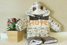 baby Clothes Baby Jacket Set with Cartoon Pattern Super Warm!!