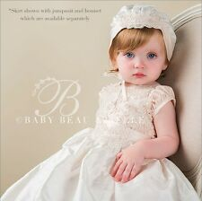 "Baby Beau & Belle ""Tessa"" Girls Silk Christening,Baptism Jumpsuit Or Skirt"