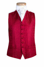 MENS AND PAGE BOYS JEFF BANKS BRIGHT RED SCROLL WEDDING DRESS PARTY WAISTCOAT