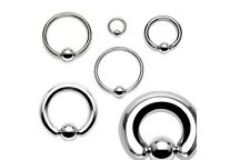Ball Closure Ring BCR Surgical Steel 0.8 1.0 1.2 & 1.6mm Ear Lip Nose. FREE  P+P