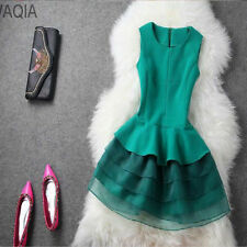 women New Hot summer dress cozy casual elegant organza embroidery lace dress