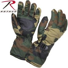 Black Nylon & Thermoblock Windproof Cold Weather Insulated Gloves 4756