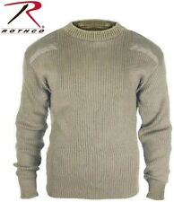KHAKI Military Army Commando Crew Neck Acrylic Sweater 8346