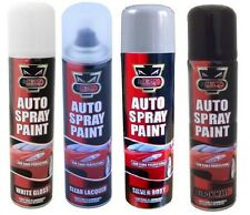 SPRAY PAINT AUTO AEROSOL INTERIOR EXTERIOR GLOSS PRIMER MATT WHITE SILVER