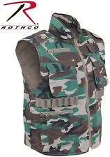 WOODLAND CAMO  Military Tactical Ranger Vest With Hood 6555