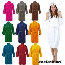 100% Egyptian Cotton Unisex Mens Ladies Terry Towel Toweling Dressing Gown Robe