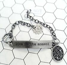 Inspirational Word Band Bracelet Various Styles Unisex Steampunk USA handmade