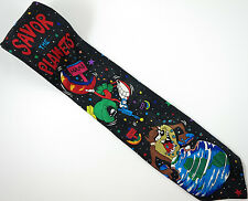 Looney Tunes Space War Tie Taz Marvin the Martian Necktie
