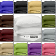 Hot Deal 1000 TC UK Hotel Bedding Pillow Case All Size - Color Solid 100% Cotton