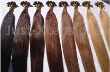 DOUBLE DRAWN Indian Remy AAAA U/ Nail Tip Hair Extensions 1G 22 inch