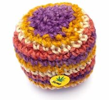 Guatemalan Hacky Sack Foot Bag Tribal Hacky Ball Hemp Kick Bags Multi-Colored