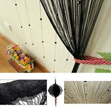 Beaded String Curtain Door Divider Crystal Beads Tassel Screen Home Decoration