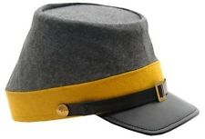 Confederate Cavalry CSA Civil War Kepi Hat - New - Sizes S , M , L , XL