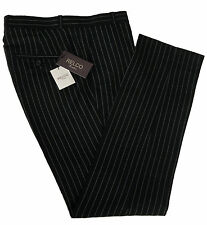 New Mens Black Pin Stripe STA PRESS Trousers Relco Mod 70's WAIST SIZES 32 TO 42