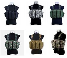 6 Colors New Cool Outdoor Tactical 6 Pouches Magazine Carry Chest Rig Vest