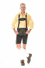 German Bavarian Oktoberfest Trachten Short Length Lederhosen - All Sizes #BERT#