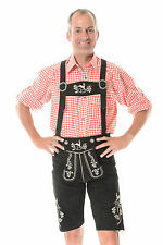 German Bavarian Oktoberfest Trachten Short Length Lederhosen All Sizes *KPLATSI*