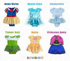 GIRLS ELSA ANNA DISNEY FROZEN DRESSES FANCY DRESS UP COSTUME 1-1.5-2-3-4-5 YEARS