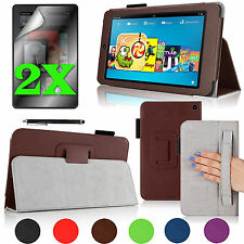 """For Amazon Kindle Fire HD 6"""" Stand Cover Case w/ Hand Strap + Accessories Bundle"""