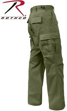 H.W. OD GREEN 6-Pocket Military Poly/Cotton BDU Cargo Fatigue Pants 7838