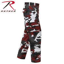 Red Camouflage 6-Pocket Military Poly/Cotton BDU Cargo Fatigue Pants 7915