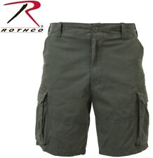 Olive Drab Green Military Vintage Army Paratrooper Shorts Cargo Shorts 2160