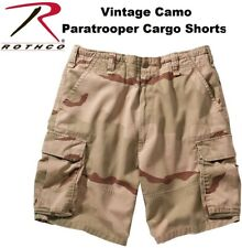 Tri-Color Desert Camo Military Vintage Army Paratrooper Shorts Cargo Shorts 2150