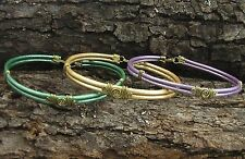 Stylish Hand Crafted Artisan Leather Bracelets: 6 colors in 4 different sizes