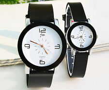 2pcs Lover's mens womens Quartz Wrist watch Couple Watch for Valentine Best Gift