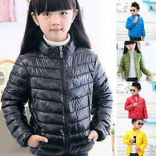 Kids Children Boys Girls Winter Warm Thick Coat Jacket Parka Clothing 4-10Y
