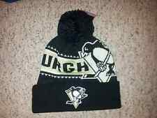 Reebok Face Off NHL Cuffed with Pom Knit Hats