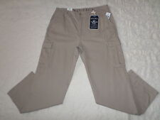 NAUTICA CARGO PANTS MENS SIZE 38X34 TRUE KHAKI COLOR ZIP FLY NEW WITH TAGS