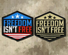 FREEDOM ISN'T FREE Tactical Morale Patch, Velcro