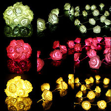 LED Fairy String Lights Wedding Garden Rose Flower Party Christmas Decoration