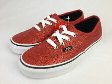VANS. ERA. Ruby RED Sparkles Kids or Women's Casual Shoes. RED. Size US Kids 3.5