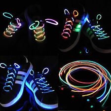 LED Flash Light Up Glow Shoelaces Shoestrings DISCO Party Skating Muti-color
