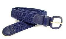 "400 - NAVY NYLON BRAIDED STRETCH BELT 1.25"" WIDE ON SALE & SIZES TO FIT MOST"