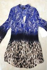 Plus Size Ladies Fancy Leopard Flower Printed Blouse Shirt Top Party 14 to 22