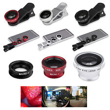 3 IN 1 180° Fish Eye Lens + Wide Angle + Micro Lens for Samsung Galaxy S4 S5
