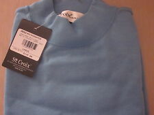 Huge Sale NWT $158 St Croix Mens Luxury Mock-Neck 3950 70% Off-Perfect for Fall